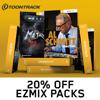 ENDS 31ST AUGUST - 20% off all Toontrack EZmix preset packs