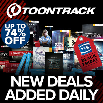 BLACK FRIDAY DEAL - Save up to 74% on Toontrack - new deals added daily!