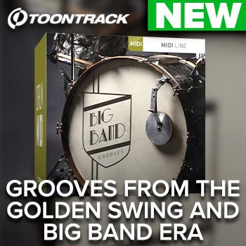 NEW RELEASE: Toontrack release Big Band Grooves drum MIDI pack