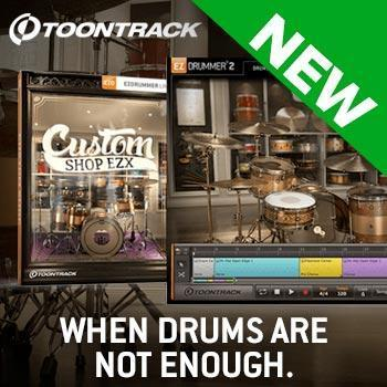 NEW RELEASE: Toontrack release Custom Shop EZX