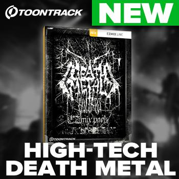 NEW RELEASE: Toontrack release Death Metal Guitars EZmix Pack