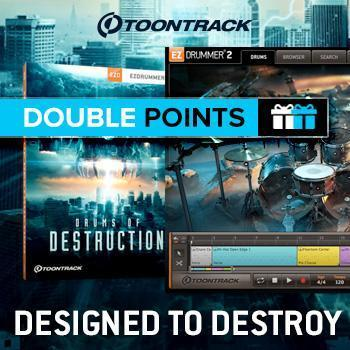 NEW RELEASE: Toontrack Drums Of Destruction - Designed to Destroy!