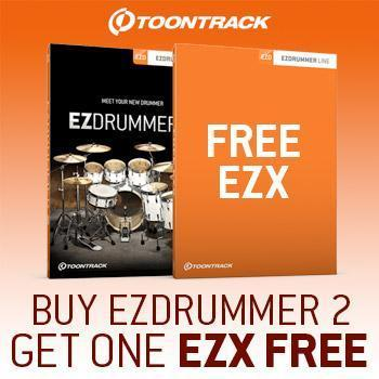 ENDS 31ST JAN - Buy EZdrummer 2 and get a free EZX expansion worth £51.95