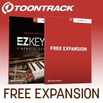 ENDS 31ST JAN - Buy a Toontrack EZKeys piano get FREE Expansion
