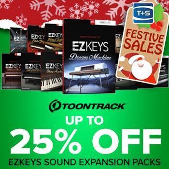 ENDS 31ST DECEMBER - Save 25% on Toontrack EZKeys Sound Expansions