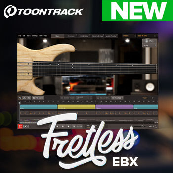 NEW RELEASE: Toontrack Fretless EBX expansion for EZbass
