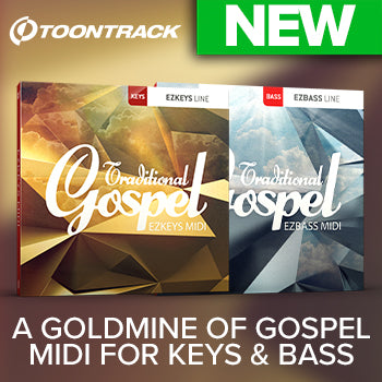 NEW RELEASE: New Toontrack Traditional Gospel packs for bass and keys!