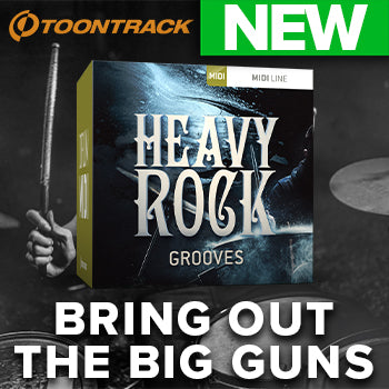 NEW RELEASE: Toontrack Heavy Rock Grooves Drum MIDI Pack