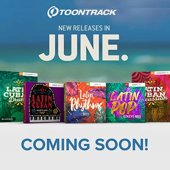 An explosion of musical colour, sounds and grooves is on the way from Toontrack