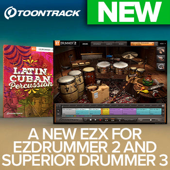 NEW RELEASE: Toontrack EZX - Latin Cuban Percussion