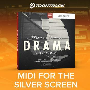 Toontrack release Movie Scores Drama MIDI pack for EZkeys