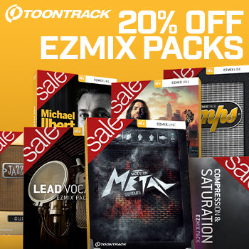 ENDS 28TH FEB - 20% off all Toontrack EZmix 2 preset packs