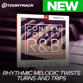 NEW RELEASE: Toontrack Contemporary R&B EZkeys MIDI