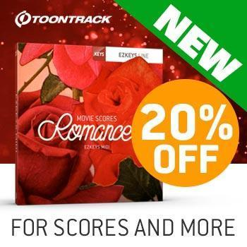 NEW RELEASE: Toontrack EZkeys Movie Scores Romance MIDI Pack