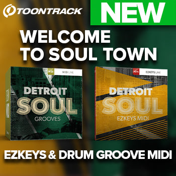 NEW RELEASE: New Detroit Soul MIDI packs for Toontrack keys and drums!