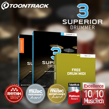 ENDS 30TH SEPTEMBER - Buy Superior Drummer 3 + get a FREE MIDI pack!