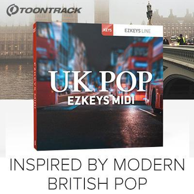 New Toontrack EZkeys UK Pop MIDI Pack