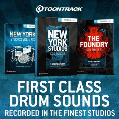 Toontrack release New York Studios Vol 1 and SDX bundles