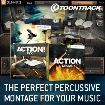 New Release: Toontrack Action! EZX expansion for EZdrummer