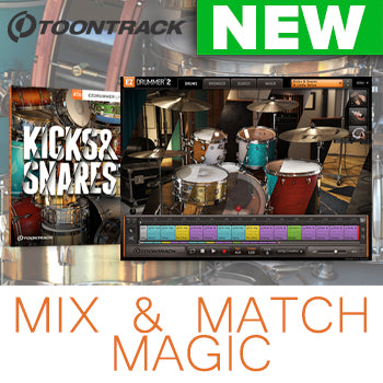 NEW RELEASE: Toontrack Kicks & Snares EZX expansion