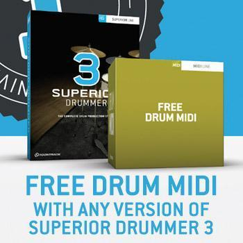 Ends 30th September - Free MIDI pack with Superior Drummer 3