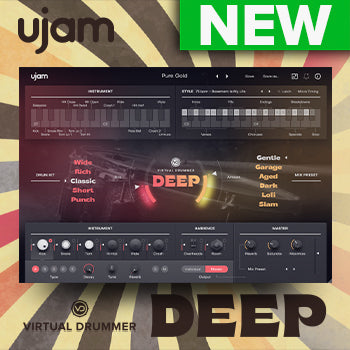 NEW RELEASE: ujam Virtual Drummer DEEP