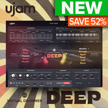 ENDS 31ST JAN - Up to 50% off ujam Virtual Drummer DEEP