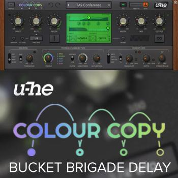 New! u-He release Colour Copy Bucket Brigade Delay