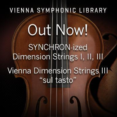 NEW RELEASES: VSL release 4 New Dimension Strings Instruments