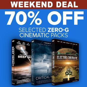 ENDS 24TH SEPTEMBER - 70% off + extra 20%* off selected Zero-G Cinematic sample packs