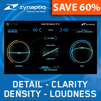 Ends 9th November - 60% off Zynaptiq Intensity effects plug-in