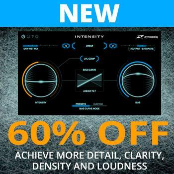 NEW RELEASE: Zynaptiq Intensity effects plug-in