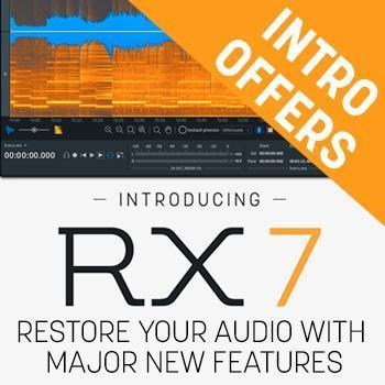 Ends 31st October - Up to 50% off new iZotope RX 7, Post Production Suite 3 and upgrades