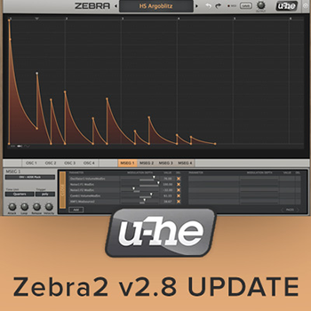 u-He Announce New Update to Zebra2!