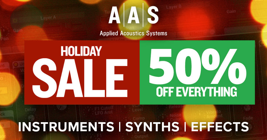 AAS CHRISTMAS SALE - 50% OFF EVERYTHING