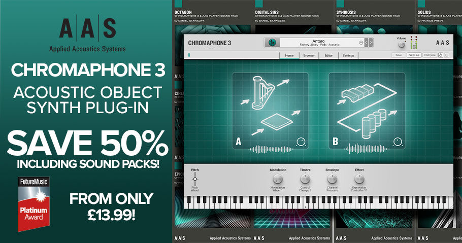 50% off AAS Chromaphone 3 synths and sound packs
