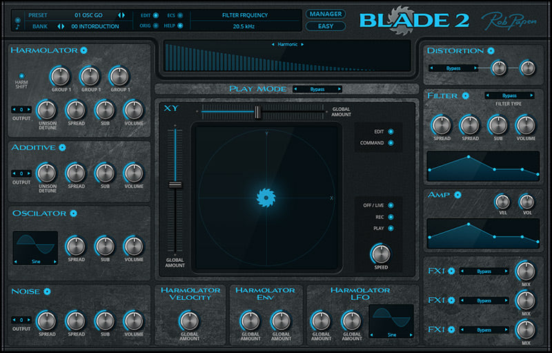 Rob Papen Blade 2 Easy Page GUI