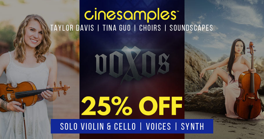 25% OFF SELECTED CINESAMPLES INSTRUMENTS