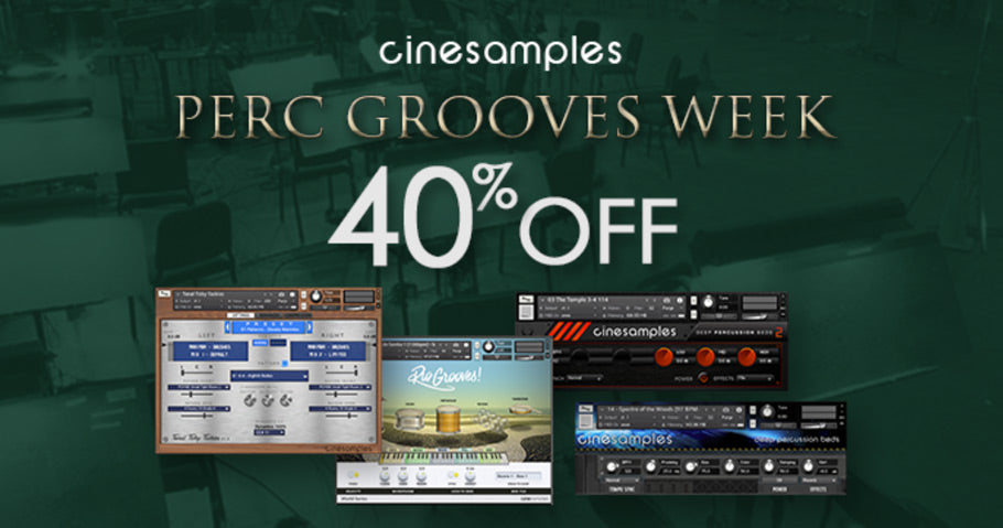 40% off Cinesamples Percussion Grooves titles