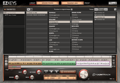 Toontrack EZkeys interface