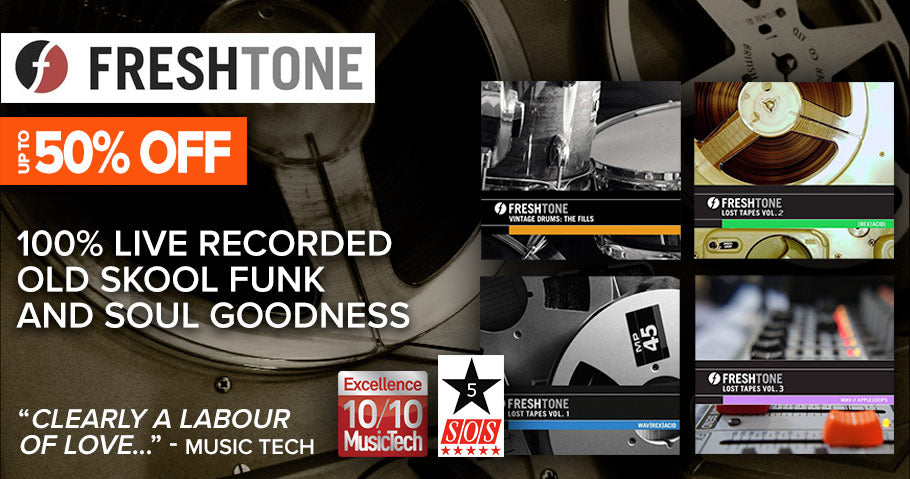Up to 50% off Freshtone sample libraries