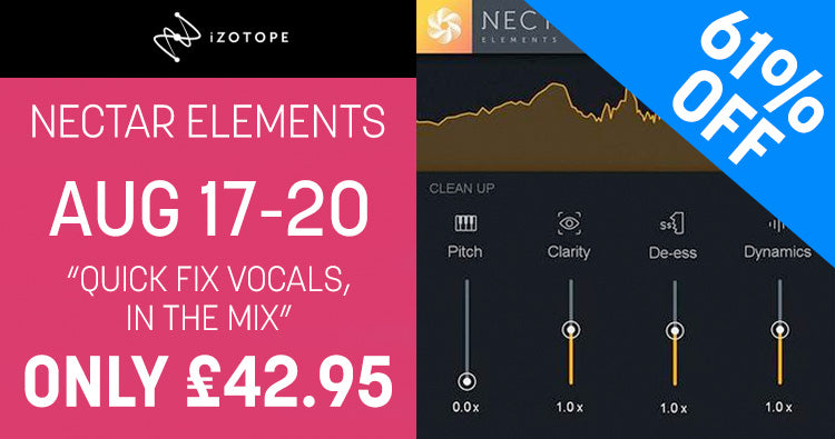 iZotope Nectar Elements Vocal Plugin Sale Promo