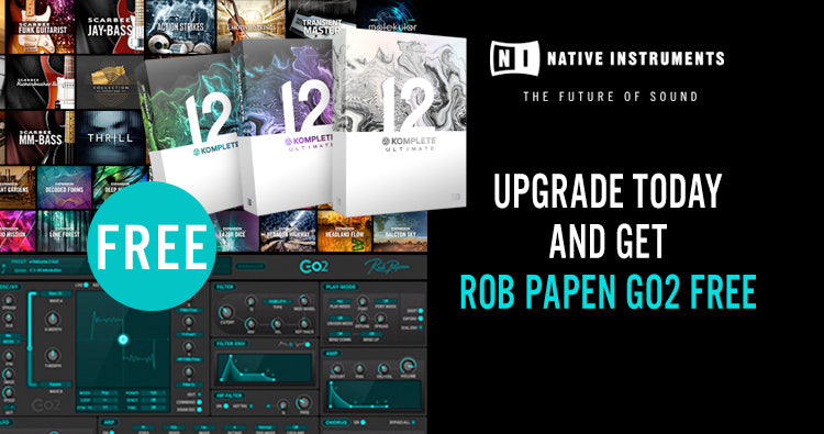 Buy native Instruments Komplete 12 and get Rob Papen Go2 for free