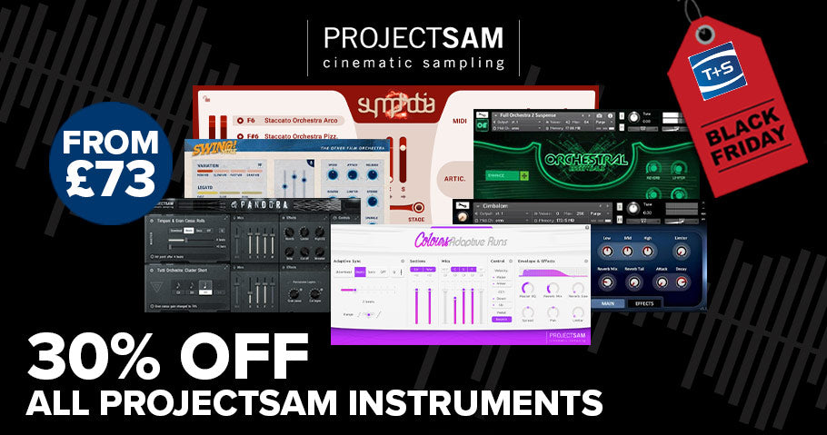 30% OFF ALL PROJECTSAM VIRTUAL INSTRUMENTS