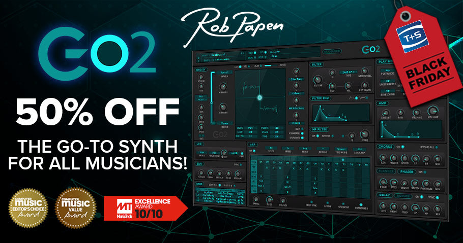 50% off Rob Papen Go2 virtual synth plug-in