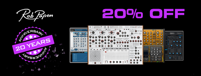 20% off Rob Papen