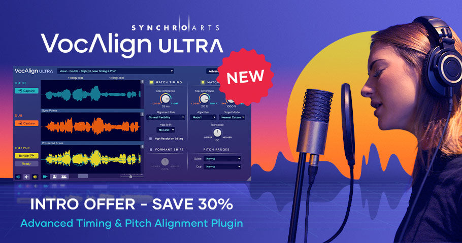 30% off new Synchro Arts VocAlign Ultra