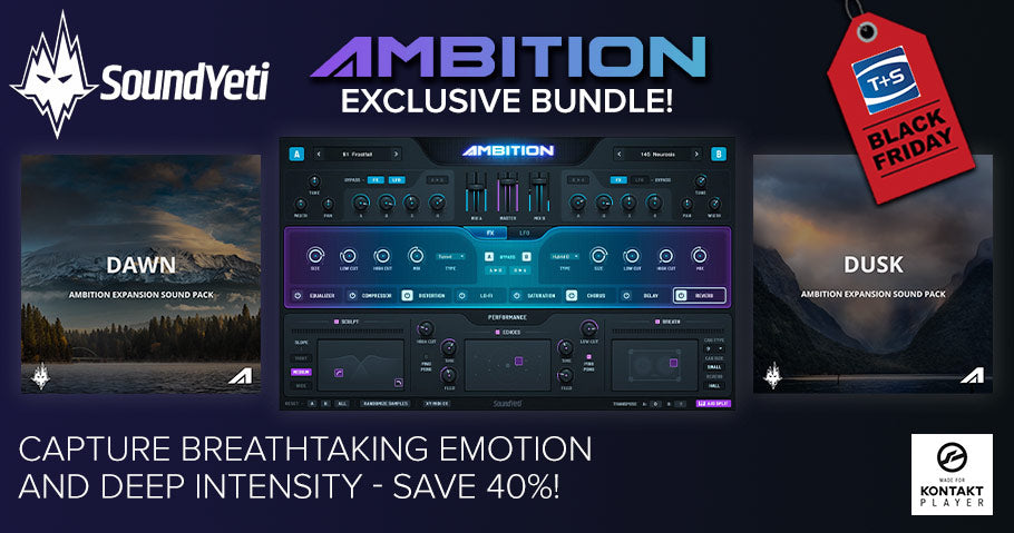 Sound Yeti Black Friday sale and exclusive Ambition Bundle