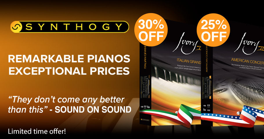 UP TO 30% OFF SELECTED SYNTHOGY PIANOS