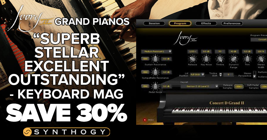 30% off Ivory II Grand Pianos